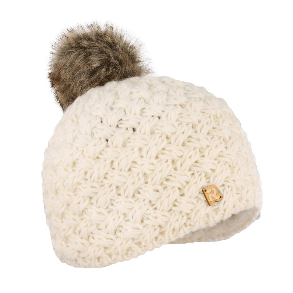 ШапкаICE 8519Тёплая вязаная шапка белоснежно белого цвета с помпоном из натурального меха. Идеальна для зимних холодов, внутри имеет плюшевую подкладку, для самой комфортной посадки на голову и удобной носки. Фасон шапки придаёт образу своей обладательницы необычайную нежность и женственность, а приятный на ощупь материал дарит ощущение тепла и комфорта. Сочетать этот головной убор можно с любыми цветами гардероба. Помпон выполнен из натурального кроличьего меха.