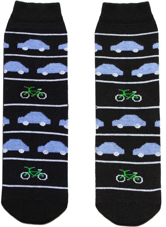 Носкиp4121Женский носки Big Bang Socks изготовлены из высококачественного хлопка с добавлением полиамидных и эластановых волокон, которые обеспечивают великолепную посадку. Удобная резинка идеально облегает ногу и не пережимает сосуды, а удлиненный паголенок придает более эстетичный вид. Модель оформлена оригинальным принтом.
