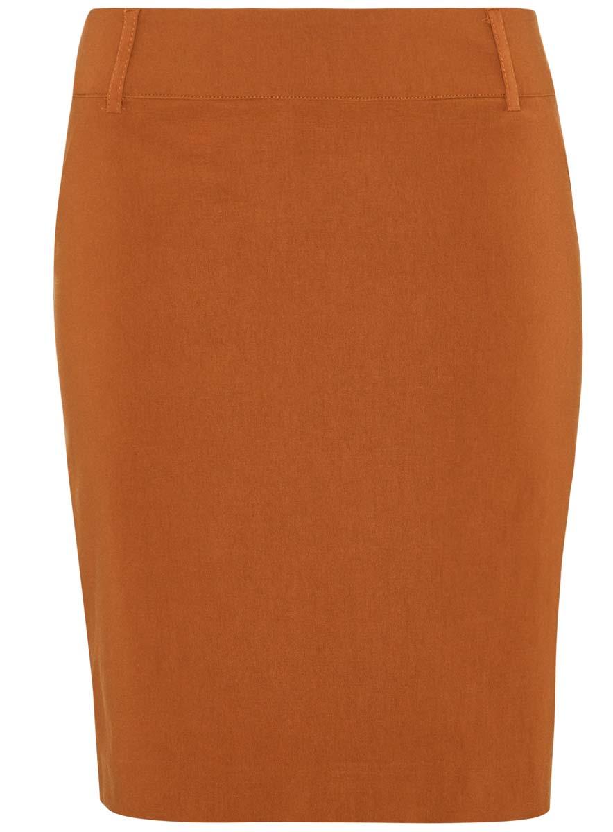 11610003/14007/3100NЮбка oodji Ultra выполнена из качественного комбинированного материала. Модель-карандаш застегивается сбоку на потайную застежку-молнию. Выполнена юбка в лаконичном дизайне и дополнена в поясе шлевками для ремня.