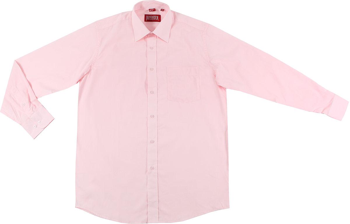 РубашкаBarbieМужская рубашка Imperator выполнена из хлопка с добавлением полиэстера. Рубашка прямого кроя с длинными рукавами и отложным воротником застегивается на пуговицы. Модель дополнена нагрудным кармашком. Манжеты рукавов оснащены застежками-пуговицами.