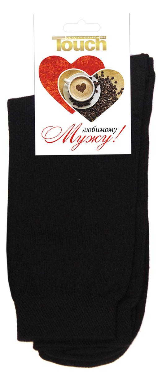 016Любимому мужуМужские классические однотонные носки Touch Gold с этикеткой-открыткой. Отличный вариант для подарка! Носки изготовлены из лучших сортов хлопка с добавлением эластановых волокон, которые обеспечивают повышенную износостойкость и превосходную посадку. Подходят для ежедневной носки.