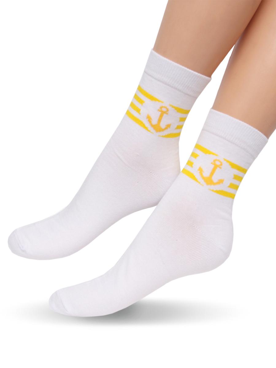 Носки265Удобные женские носочки Touch Gold с контрастными полосками на голени и рисунком в виде якоря. Изготовлены из лучших сортов длинноволокнистого хлопка с добавлением эластановых волокон, которые обеспечивают повышенную износостойкость. Снабжены двойной резинкой, что обеспечивает превосходную посадку.