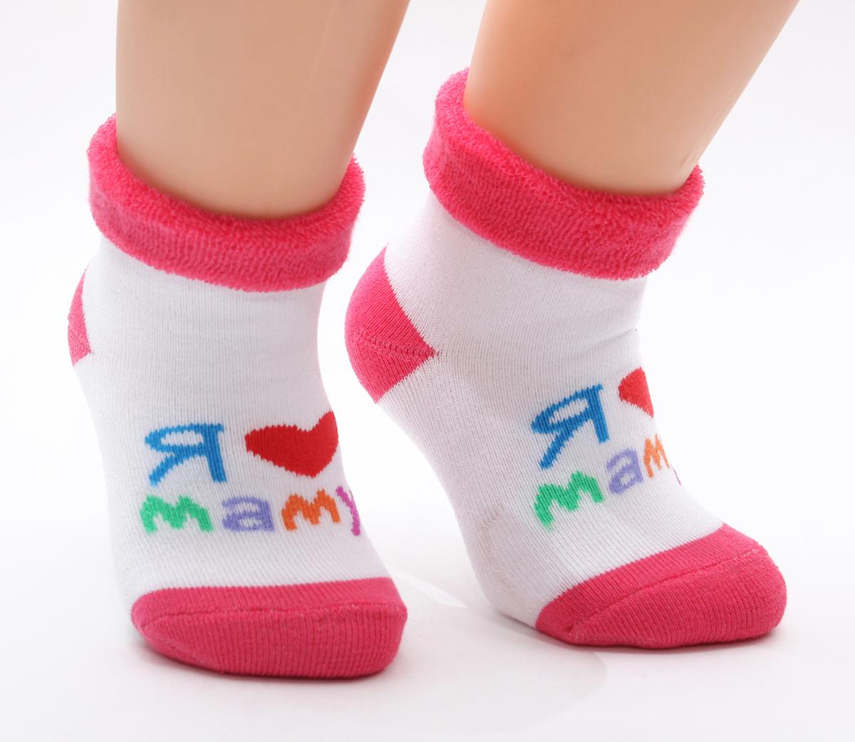 Носки126Махровые детские носочки изготовлены из высококачественного хлопка. Мягкая широкая резинка, не перетягивает ножку.