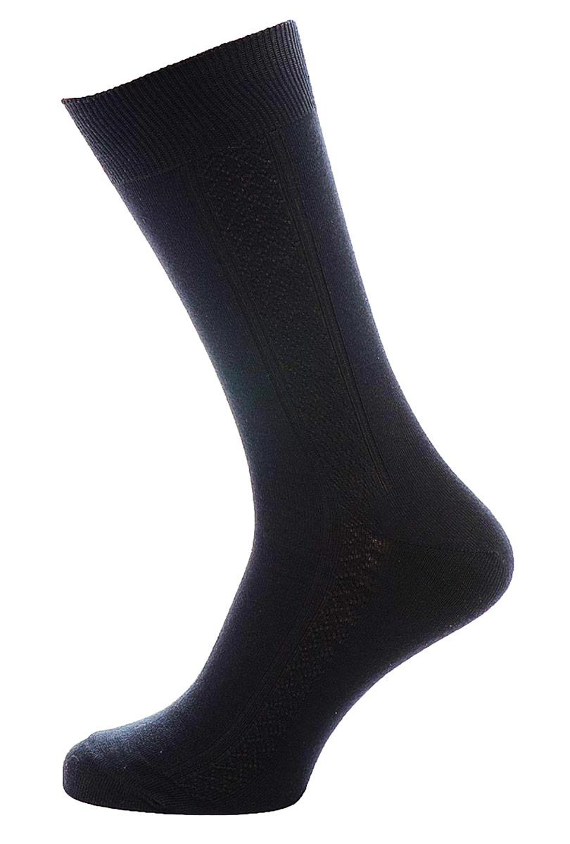C119Мужские носки Burlesco изготовлены из высококачественного хлопка с добавлением полиамидных волокон. Носки комфортно прилегают к ноге без образования складок. Идеальны для повседневной носки. Изделие оснащено широкой эластичной мягкой резинкой. Мысок и пятка усилены. Оформлены узором в виде ромбов.