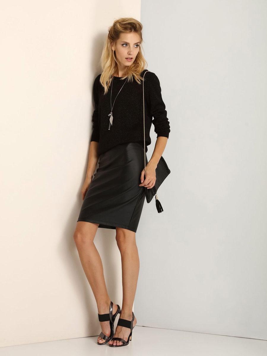 ЮбкаSSD1050CAСтильная юбка Top Secret выполнена из хлопка с добавлением полиэстера и эластана. Юбка-карандаш средней длины имеет эластичный пояс на талии. Застегивается на застежку-молнию, расположенную сзади.
