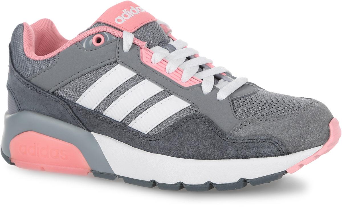 КроссовкиAW4930Модные женские кроссовки Run9Tis от adidas Neo в классическом беговом стиле придутся вам по душе. Верх, выполненный из текстиля, дополнен вставками из искусственной кожи и искусственной замши. Язычок и задник оформлены названием бренда. Подкладка из текстиля не натирает. Стелька из EVA с текстильной поверхностью комфортна при ходьбе в течение всего дня. Классическая шнуровка с литыми панелями надежно фиксирует модель на ноге. Легкая промежуточная подошва из материала EVA обладает высокой износостойкостью и обеспечивает идеальную амортизацию. Резиновая подошва с бороздками для сгиба гарантирует идеальное сцепление с любыми поверхностями. Подошва оформлена контрастной прорезиненной вставкой с названием бренда. В таких кроссовках вашим ногам будет комфортно и уютно.