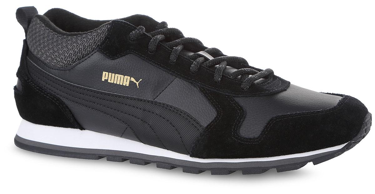 36124102Разработанные в лучших традициях Puma, кроссовки серии ST Runner - идеальный вариант для прогулок и активного отдыха. Модель выполнена из замши и натуральной кожи. В эти кроссовки добавлены такие элементы как обтачка голенища плотной тканью, стильная система шнуровки, характерная для туристских ботинок, а также мягкая, теплая и уютная подкладка. Кроме того, внешняя подошва, выполненная полностью из резины, обеспечивает отличное сцепление с поверхностью даже в гололед. Модель ST Runner Demi Twill - это неповторимый дизайн, новизна и прекрасное дополнение к стильному повседневному гардеробу.