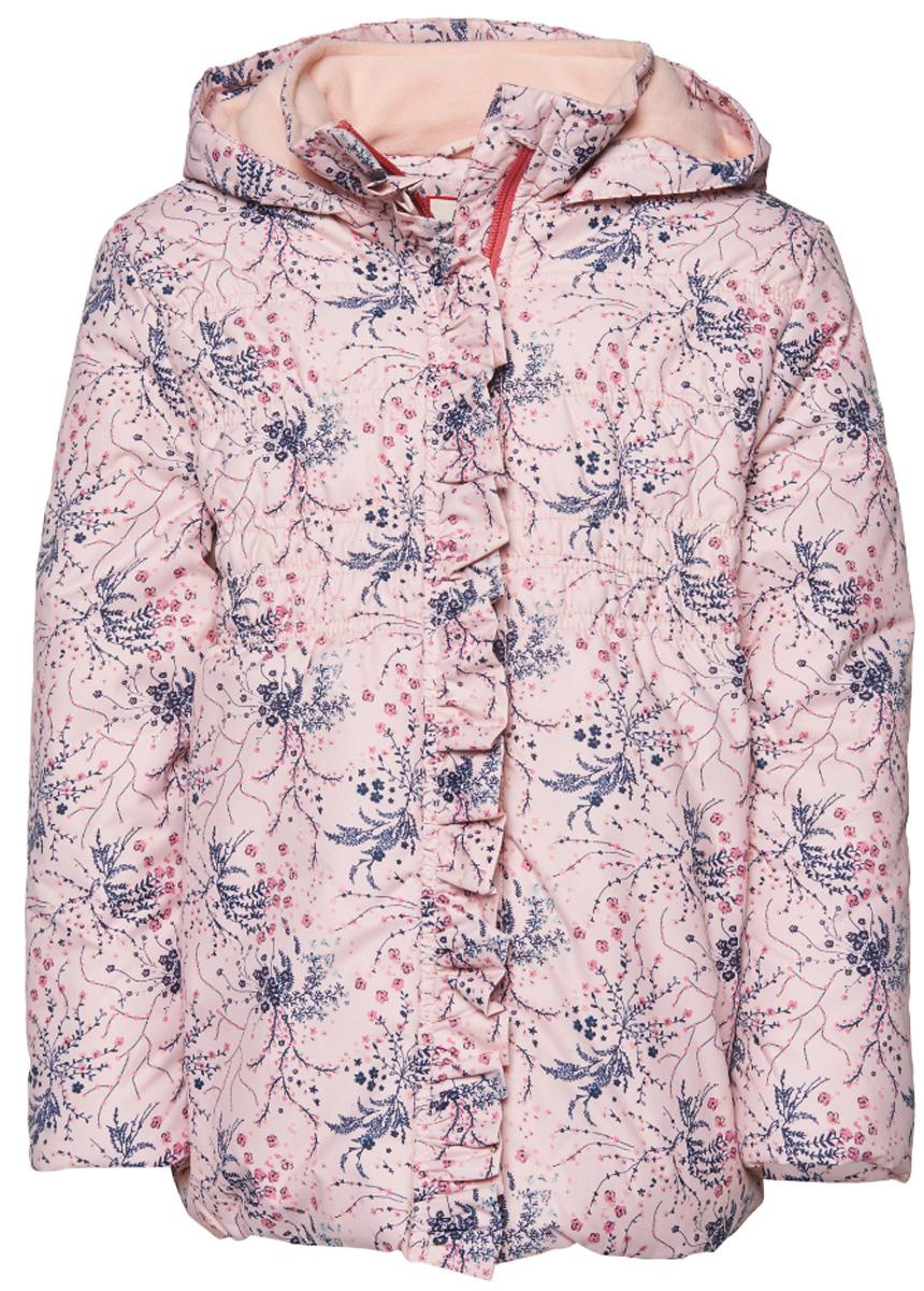 3532671.00.81_5571Куртка с оригинальным принтом декорирована рюшами. Модель приталенного кроя с высоким воротник на молнии. Дополнена флисовой подкладкой.