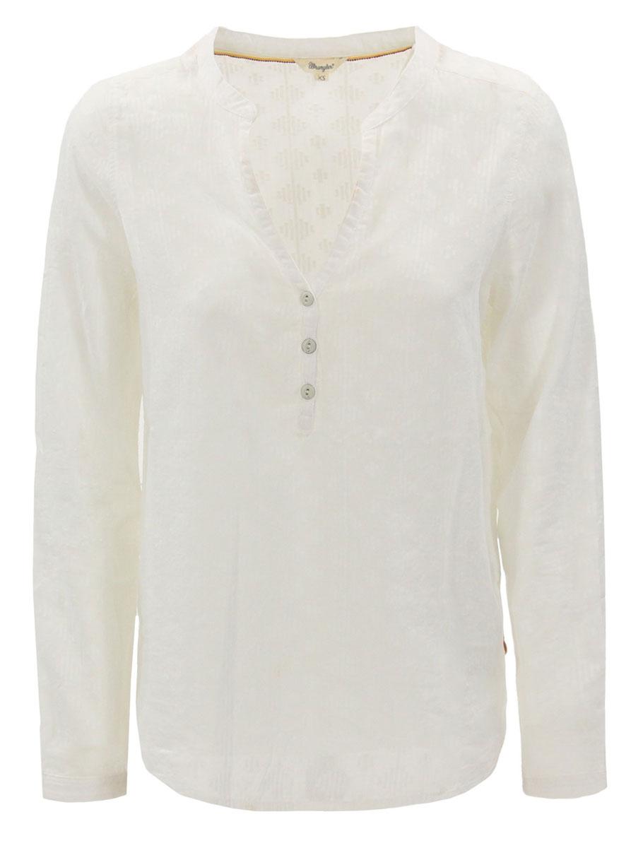 РубашкаW5183CC12Симпатичная женская рубашка Wrangler, изготовлена из натурального хлопка. Модная рубашка с длинными рукавами и V-образным вырезом горловины, застегивается на пуговицы.