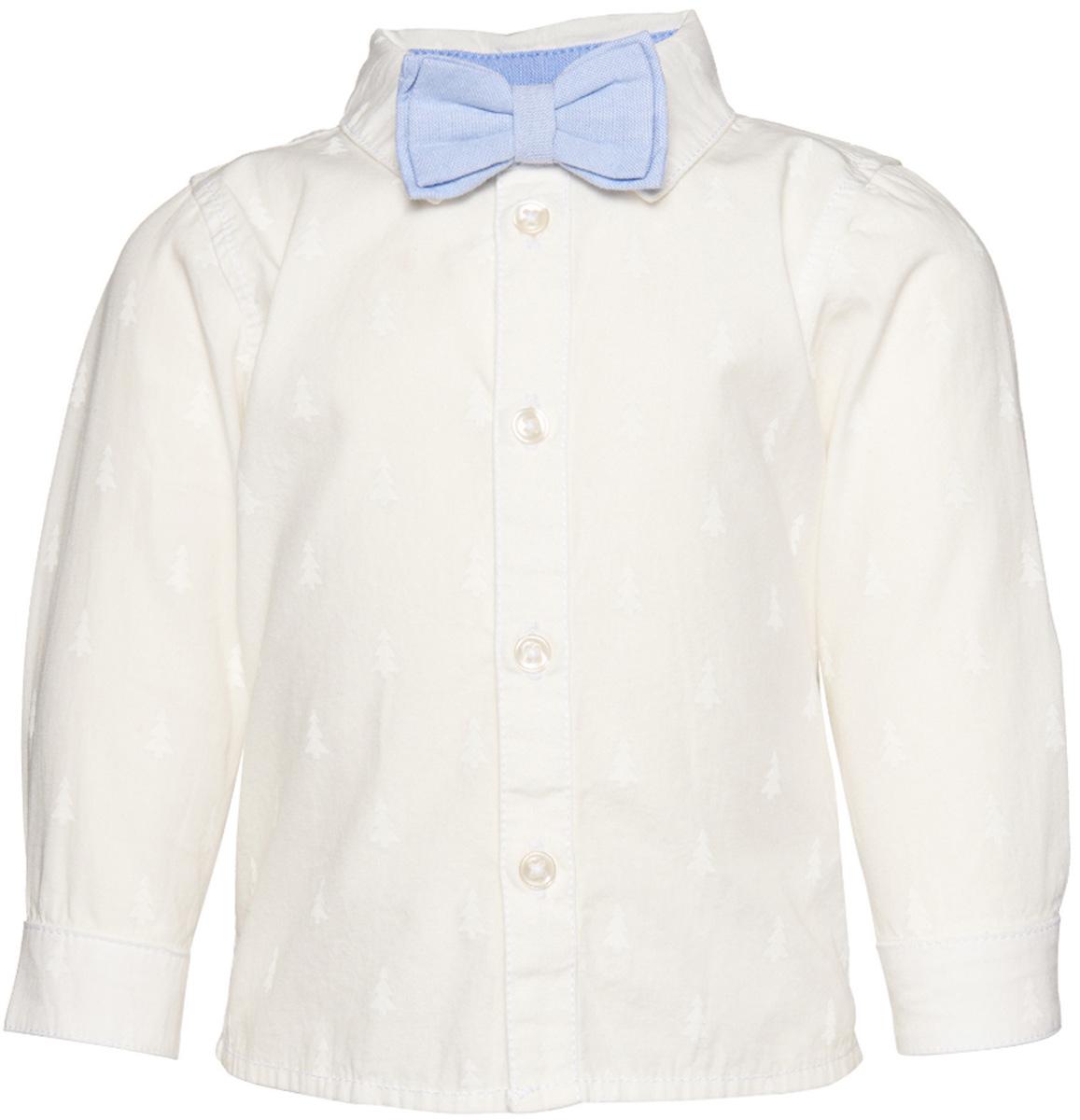 Рубашка2032499.40.22_2067Рубашка Tom Tailor для мальчика выполнена из высококачественного материала. Модель классического кроя с длинными рукавами и отложным воротником застегивается на пуговицы по всей длине. На манжетах предусмотрены застежки-пуговицы. Воротничок дополнен бабочкой.