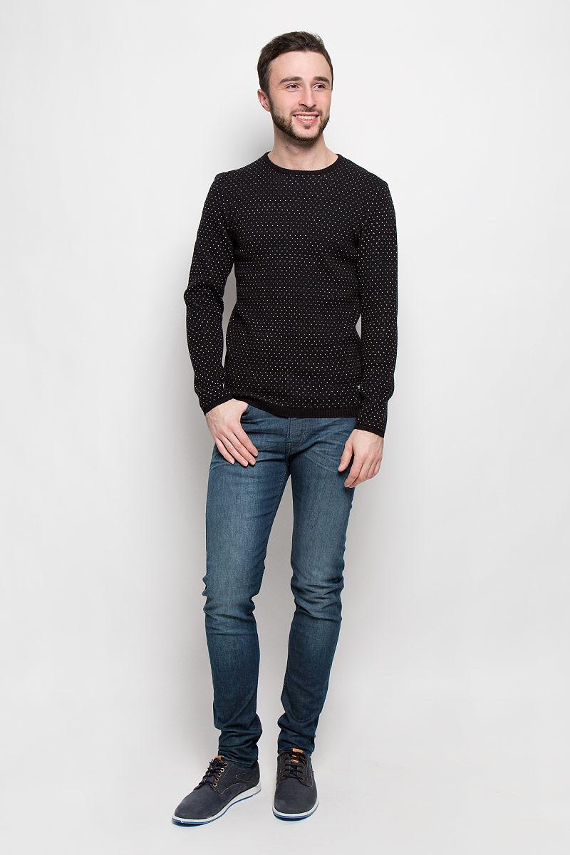Джемпер3022274.62.12_2999Стильный мужской джемпер Tom Tailor выполнен из натурального хлопка. Модель с круглым вырезом горловины и длинными рукавами. Манжеты рукавов, низ изделия и горловина связаны резинкой.