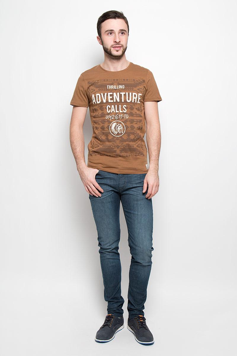1036555.00.12_2999Стильная мужская футболка Tom Tailor Denim выполнена из натурального хлопка с добавлением вискозы. Модель с круглым вырезом горловины и короткими рукавами.