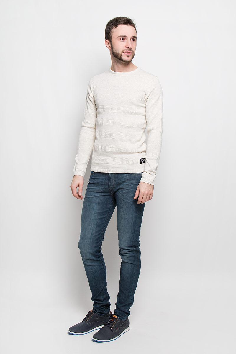 Джемпер3022325.62.12_2608Стильный мужской джемпер Tom Tailor выполнен из натурального хлопка. Модель с круглым вырезом горловины и длинными рукавами. Манжеты рукавов, горловина и низ изделия связаны резинкой.