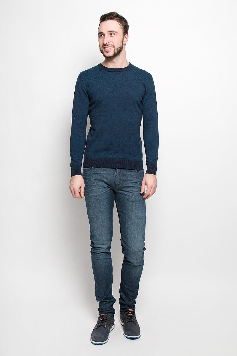Джемпер3021667.00.10_6012Стильный мужской джемпер Tom Tailor выполнен из натурального хлопка. Модель с круглым вырезом горловины и длинными рукавами. Манжеты рукавов, низ изделия и горловина связаны резинкой.