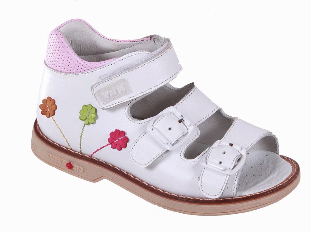 Сандалии22B 0506/02Детские сандалии для девочек от Tiflani, выполненные из высококачественных натуральных материалов, очень удобны и невероятно легки. Верх модели оформлен декоративными швами и отстрочкой. Модель оформлена широкими ремешками с застежками на пряжке и липучке, позволяющими регулировать обхват по размеру. Подошва обладает отличными теплопроводными свойствами, гибкостью и износостойкостью. Каждое движение в этой обуви приносит радость и удовольствие.