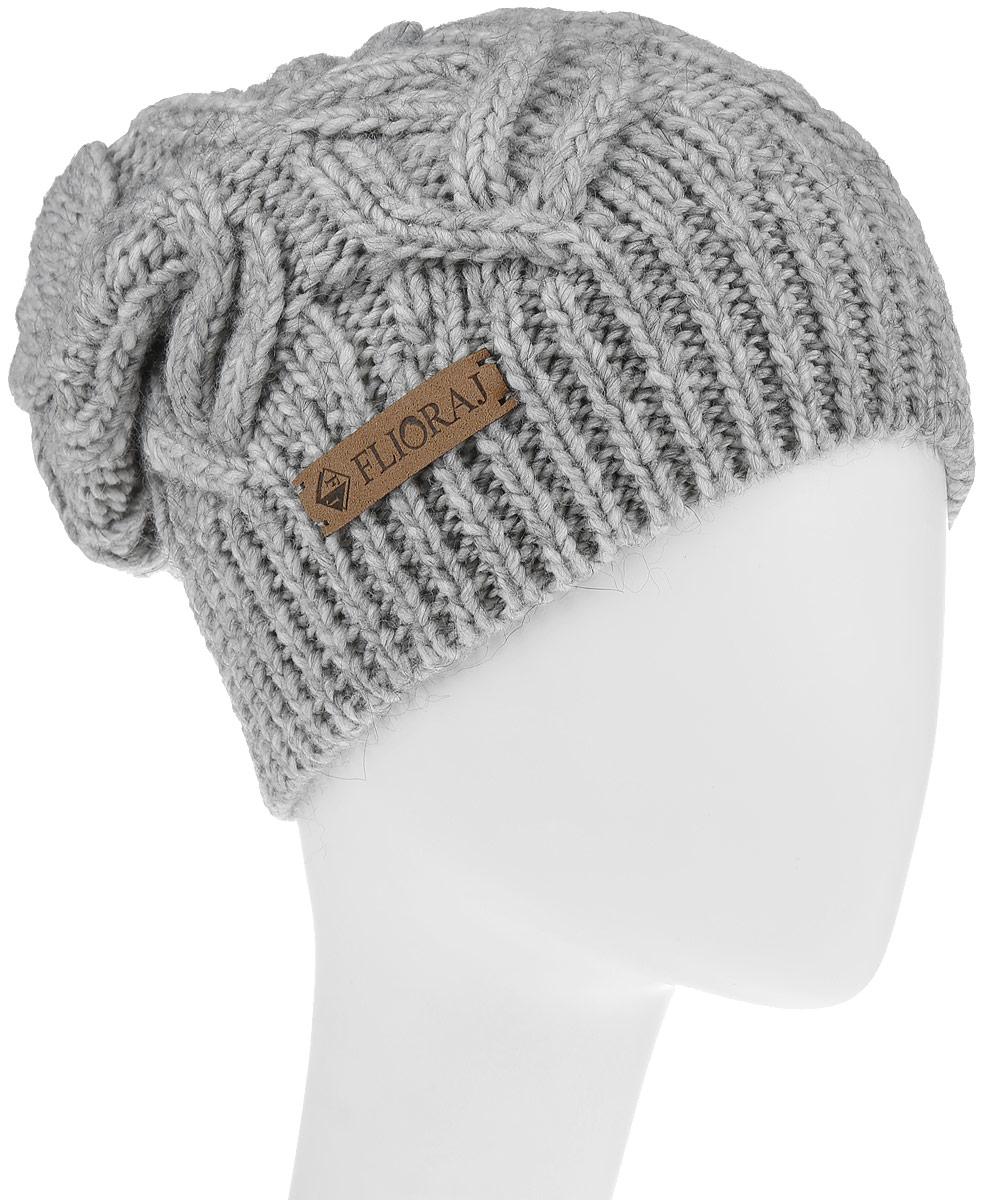 Шапка307FJТеплая шапка Flioraj выполнена из овечьей шерсти и шерсти горной альпаки с добавлением полиакрила и вискозы. Модель имеет крупную плотную вязку, оформлена оригинальным вязаным рисунком и декорирована фирменным кожаным логотипом. Уважаемые клиенты! Размер, доступный для заказа, является обхватом головы.