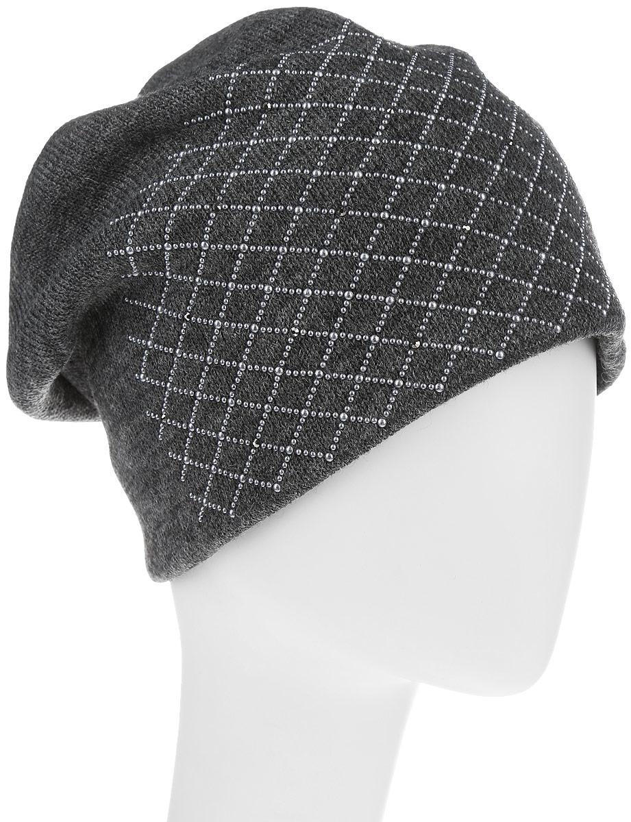 Шапка993855Женская шапка Avanta изготовлена из шерсти и акрилика, подкладка - из флиса. Уважаемые клиенты! Размер, доступный для заказа, является обхватом головы.