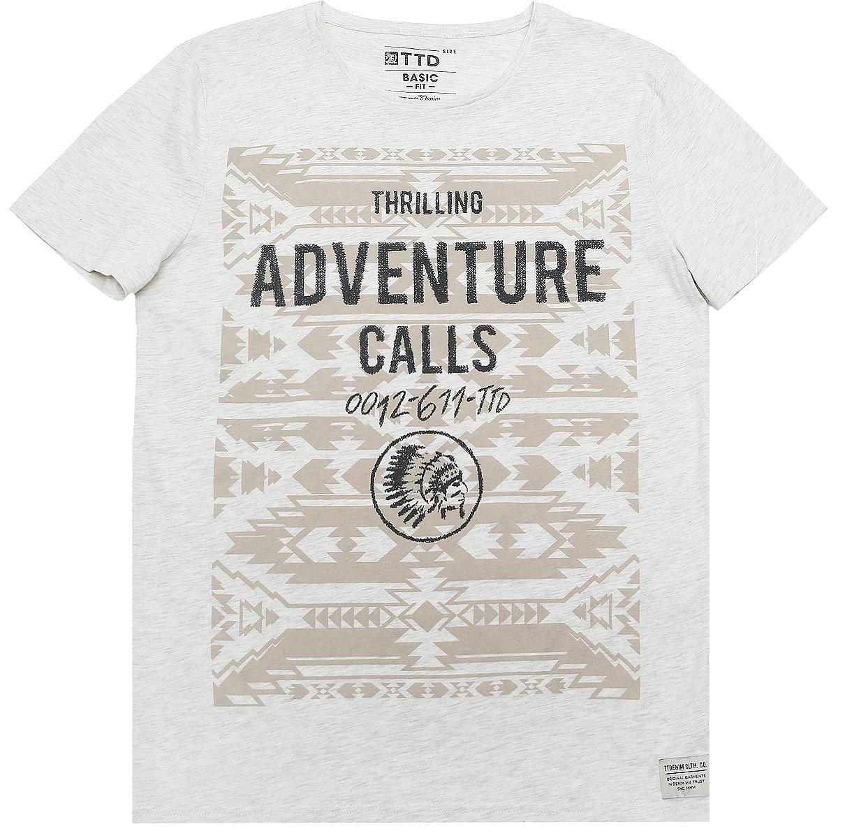 Футболка1036555.00.12_2999Стильная мужская футболка Tom Tailor Denim выполнена из натурального хлопка с добавлением вискозы. Модель с круглым вырезом горловины и короткими рукавами.