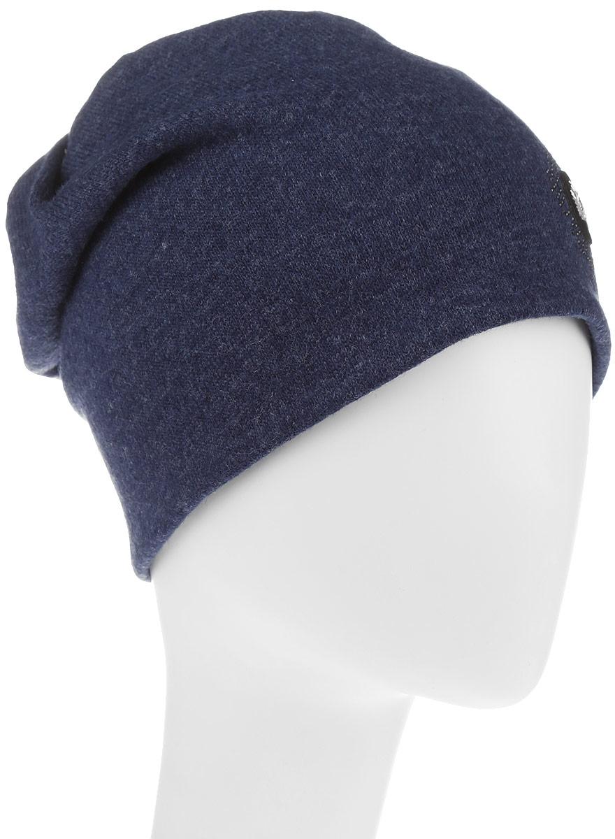 Шапка998980Стильная женская шапка Avanta дополнит ваш наряд и не позволит вам замерзнуть в холодное время года. Шапка выполнена из высококачественного комбинированного материала, что позволяет ей великолепно сохранять тепло, и обеспечивает высокую эластичность и удобство посадки. Изделие дополнено флисовой подкладкой и оформлено оригинальной нашивкой в виде листика и стразами. Такая шапка составит идеальный комплект с модной верхней одеждой, в ней вам будет уютно и тепло.