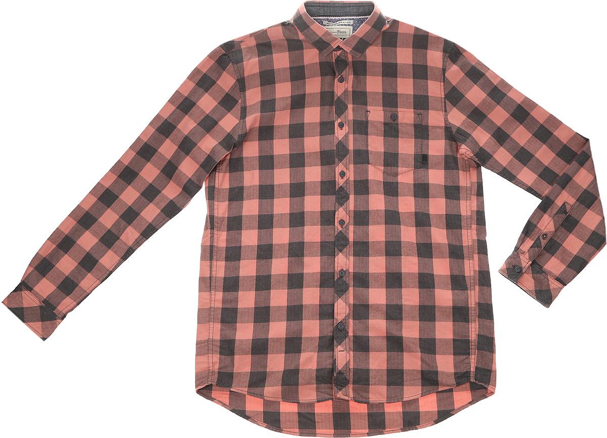 2032742.00.12_2999Стильная мужская рубашка Tom Tailor Denim выполнена из натурального хлопка. Модель с отложным воротником и длинными рукавами застегивается на пуговицы спереди и дополнена нагрудным карманом на пуговице.