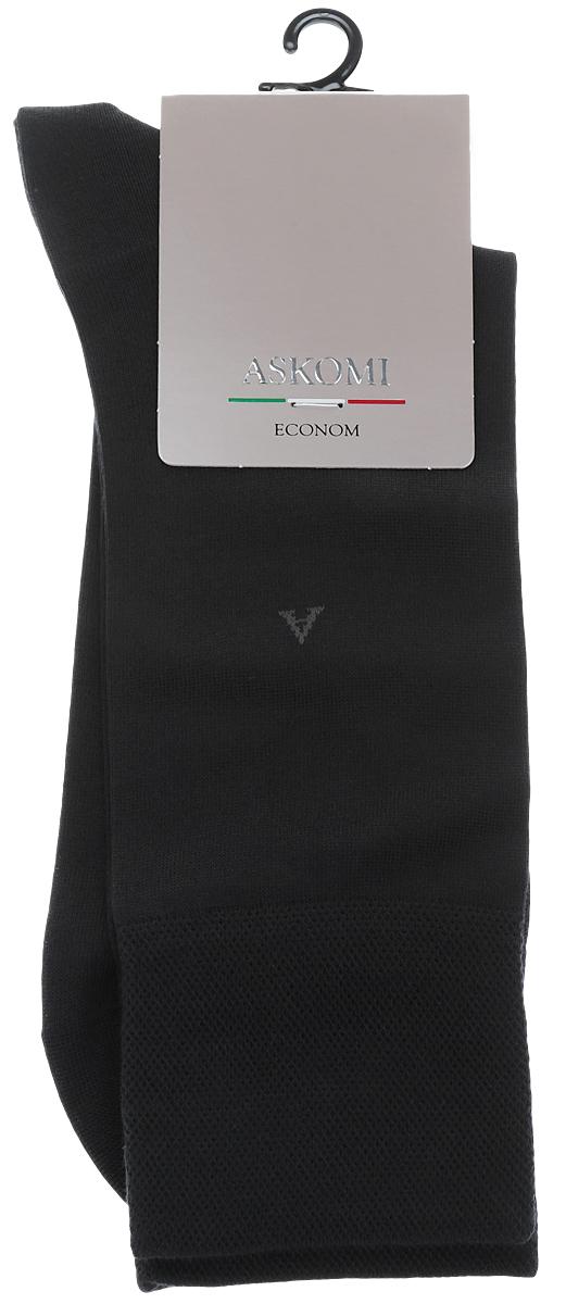 АМ-3900Мужские носки Askomi изготовлены из высококачественного хлопка с добавлением полиамидных и эластановых волокон, обладают повышенной гладкостью и мягкостью, не садятся и не деформируются. Изделие оснащено двойным бортом для плотной фиксации, который не пережимает сосуды, а также кеттельным швом, не ощутимым для ноги. Оформлены буквой А на паголенке.