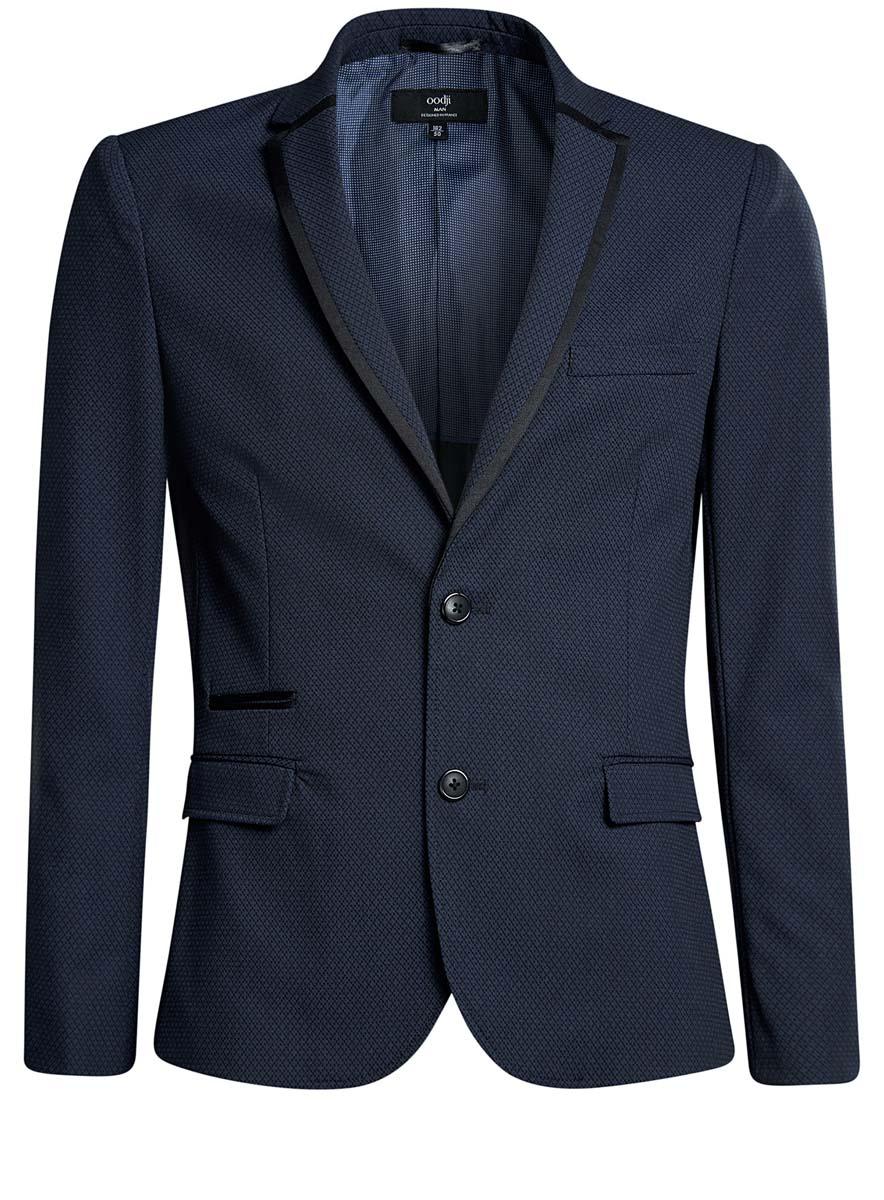 Пиджак2L420181M/44484N/7929BМужской пиджак oodji изготовлен из высококачественного комбинированного материала. Подкладка пиджака выполнена из полиэстера. Пиджак с воротником с лацканами и длинными рукавами застегивается на две пуговицы. Манжеты рукавов дополнены декоративными пуговицами. Пиджак имеет два втачных кармана с клапанами и нагрудный кармашек спереди, два внутренних втачных кармана, а также внутренний втачной карман на пуговице.