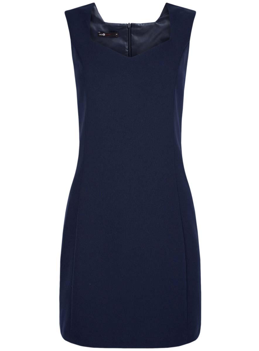Платье11902160/14917/4500NСтильное женское платье выполнено из 100% полиэстера на приятной подкладке. Модель без рукавов с V-образным вырезом горловины застегивается на спинке на потайную молнию.
