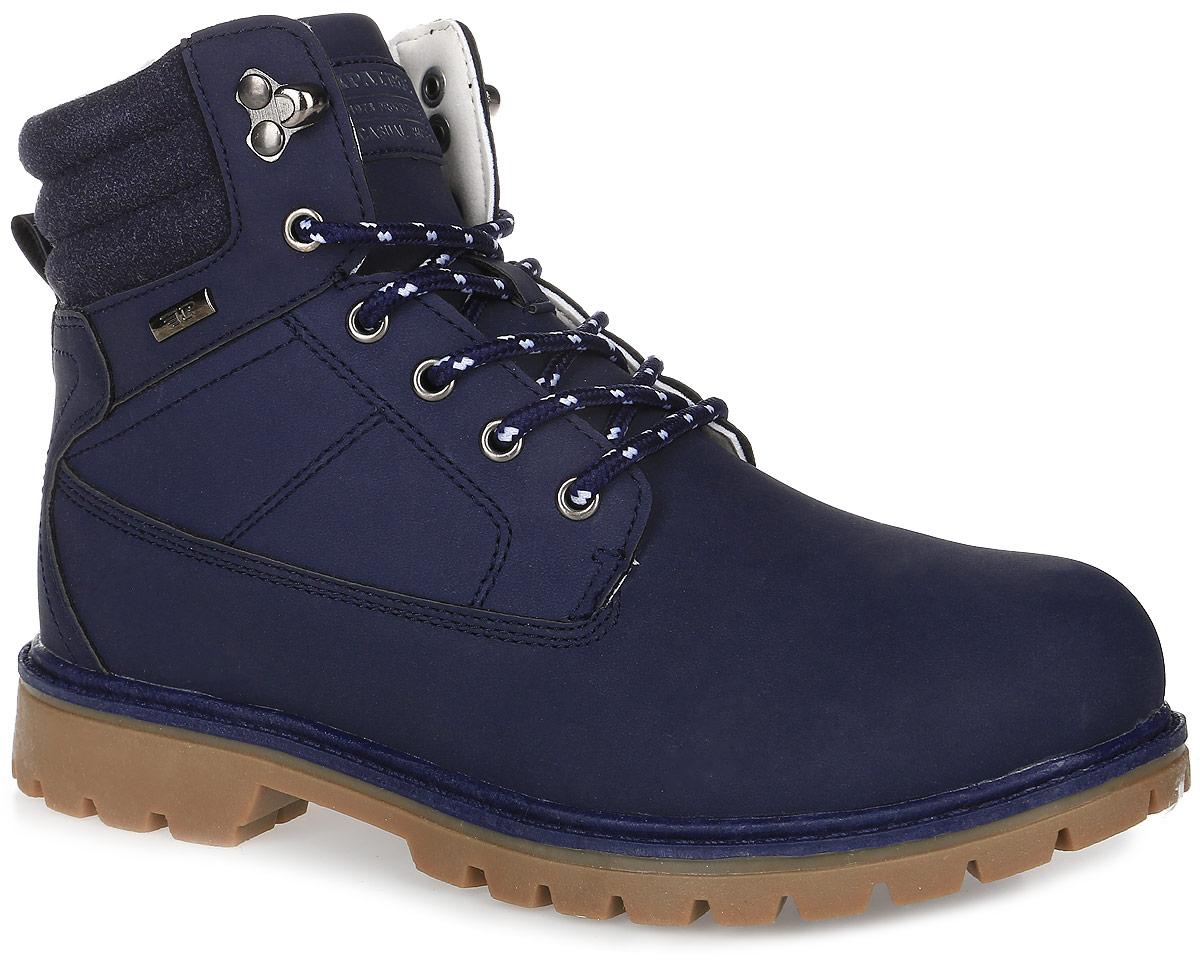 Ботинки263-734IM-17w-04-16Женские ботинки от Patrol выполнены из искусственного нубука и на язычке оформлены нашивкой с логотипом бренда. Подкладка, исполненная из искусственного меха, сохранит ваши ноги в тепле. Съемная стелька EVA с поверхностью из искусственного меха обеспечивает отличную амортизацию и максимальный комфорт. Шнуровка позволяет оптимально зафиксировать модель на ноге. Подошва, выполненная из термопластичного материала, обеспечит надежное сцепление на любых поверхностях.