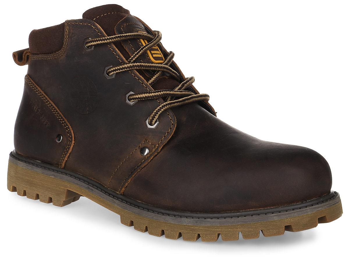 456-5918IM-17w-1-6Мужские ботинки от Patrol выполнены из натуральной кожи и оформлены на язычке нашивкой с фирменным логотипом бренда, а сбоку - тиснением с логотипом бренда. Подкладка, исполненная из искусственного меха, сохранит ваши ноги в тепле. Съемная стелька EVA с поверхностью из искусственного меха обеспечивает отличную амортизацию и максимальный комфорт. Шнуровка позволяет оптимально зафиксировать модель на ноге. Резиновая подошва обеспечит надежное сцепление на любых поверхностях.