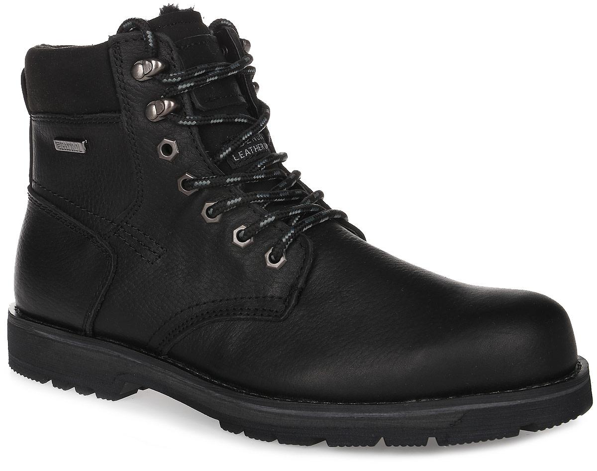 456-9850IM-17w-1-1Мужские ботинки от Patrol выполнены из натуральной кожи и оформлены на язычке тиснением с фирменным логотипом бренда. Подкладка, исполненная из искусственного меха, сохранит ваши ноги в тепле. Съемная стелька EVA с поверхностью из искусственного меха обеспечивает отличную амортизацию и максимальный комфорт. Шнуровка позволяет оптимально зафиксировать модель на ноге. Резиновая подошва обеспечит надежное сцепление на любых поверхностях.