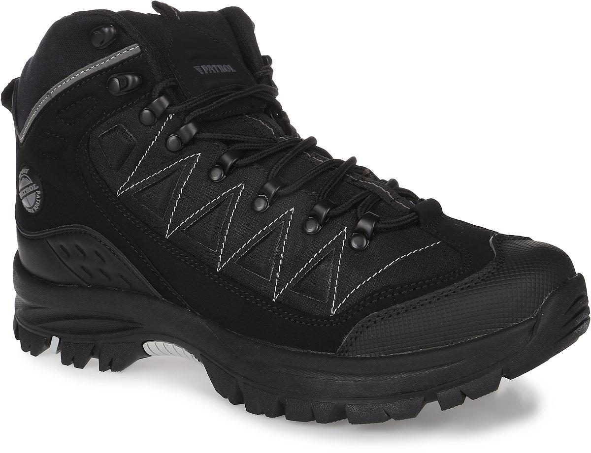 579-505PIM-17w-01/8-1Мужские ботинки от Patrol прекрасно подойдут для активного отдыха и пеших прогулок. Модель выполнена из прочного текстиля со вставками из искусственной кожи. Подкладка, исполненная из искусственного меха, сохранит ваши ноги в тепле. Шнуровка позволяет оптимально зафиксировать модель на ноге. Съемная стелька EVA с поверхностью из искусственного меха обеспечивает отличную амортизацию и максимальный комфорт. Подошва с протектором гарантирует надежное сцепление на любых поверхностях.