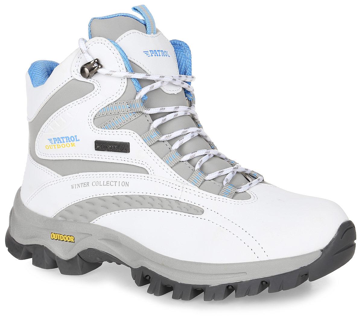 232-005IM-17w-01-10/5Женские ботинки от Patrol прекрасно подойдут для активного отдыха и пеших прогулок. Модель выполнена из искусственной кожи. Подкладка, исполненная из искусственного меха, сохранит ваши ноги в тепле. Съемная стелька EVA с поверхностью из искусственного меха обеспечивает отличную амортизацию и максимальный комфорт. Шнуровка позволяет оптимально зафиксировать модель на ноге. Подошва с протектором гарантирует надежное сцепление на любых поверхностях.