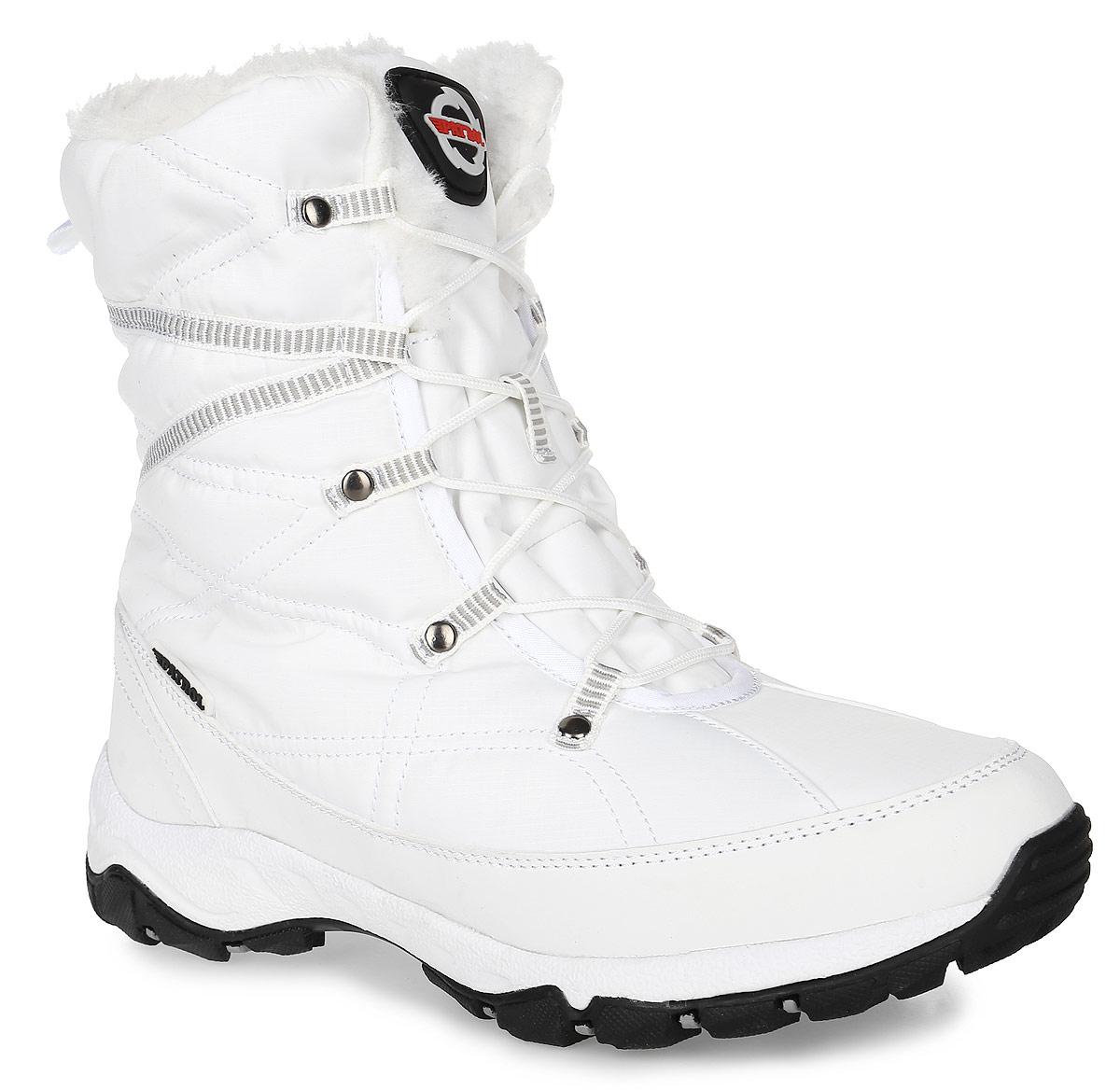 232-028IM-17w-8/01-1Женские ботинки от Patrol прекрасно подойдут для активного отдыха и пеших прогулок. Модель выполнена из комбинации высококачественного текстиля и искусственной кожи. Подкладка, исполненная из искусственного меха, сохранит ваши ноги в тепле. Съемная стелька EVA с поверхностью из искусственного меха обеспечивает отличную амортизацию и максимальный комфорт. Шнуровка позволяет оптимально зафиксировать модель на ноге. Подошва с протектором гарантирует надежное сцепление на любых поверхностях.
