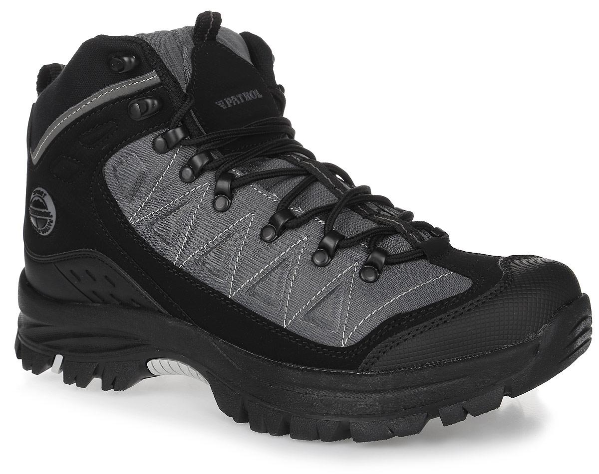 Ботинки579-505PIM-17w-01/8-1Мужские ботинки от Patrol прекрасно подойдут для активного отдыха и пеших прогулок. Модель выполнена из прочного текстиля со вставками из искусственной кожи. Подкладка, исполненная из искусственного меха, сохранит ваши ноги в тепле. Шнуровка позволяет оптимально зафиксировать модель на ноге. Съемная стелька EVA с поверхностью из искусственного меха обеспечивает отличную амортизацию и максимальный комфорт. Подошва с протектором гарантирует надежное сцепление на любых поверхностях.