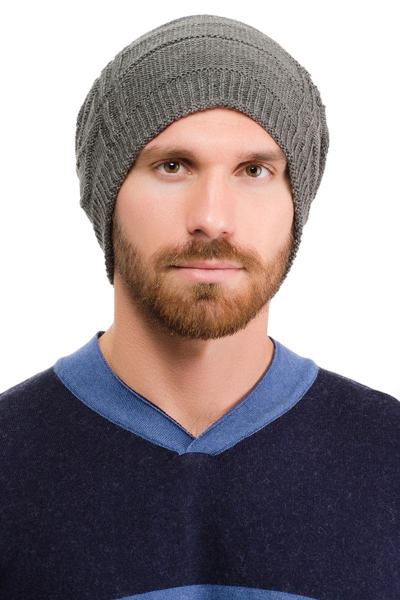 171B-1601Вязаная мужская шапка Moltini выполнена из высококачественной пряжи из акрила и шерсти. Модель декорирована объемным вязаным узором в виде сетки. Уважаемые клиенты! Обращаем ваше внимание на тот факт, что размер, доступный для заказа, является обхватом головы.