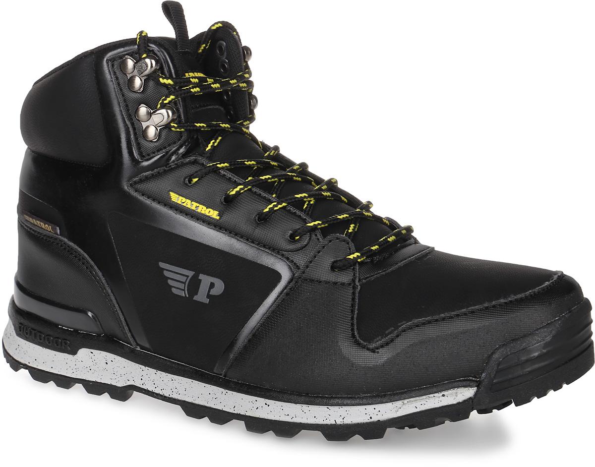 Ботинки465-032IM-17w-01-1Мужские ботинки от Patrol прекрасно подойдут для активного отдыха и пеших прогулок. Модель выполнена из искусственной кожи. Подкладка, исполненная из искусственного меха, сохранит ваши ноги в тепле. Съемная стелька EVA с поверхностью из искусственного меха обеспечивает отличную амортизацию и максимальный комфорт. Шнуровка позволяет оптимально зафиксировать модель на ноге. Подошва с протектором гарантирует надежное сцепление на любых поверхностях.