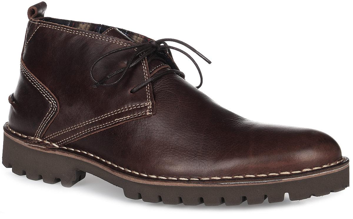 MAXIME-M8055Трендовые мужские ботинки Maxime от TBS - модель для ценителей современной качественной обуви! Модель выполнена из натуральной кожи с эффектом потертости. Внутренняя поверхность и стелька из кожи обеспечат комфорт и уют вашим ногам. Прочная резиновая подошва дополнена устойчивым каблуком и гарантирует длительную носку и сцепление с любой поверхностью. Классическая шнуровка надежно фиксирует обувь на ноге.