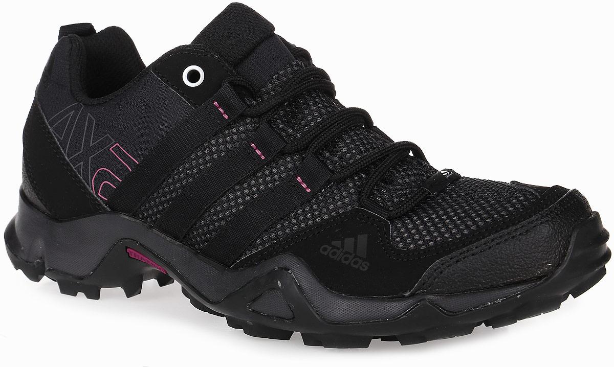 AQ3963Женские кроссовки AX2 от adidas - универсальная трекинговая обувь для простых пеших маршрутов и повседневной носки. Надежный гибкий верх выполнен из сетки и синтетики и дополнен бамперами на мыске и на пятке для дополнительной защиты стопы. Цепкая подошва с тракторным профилем Traxion поможет сохранить уверенность даже на скользких покрытиях. Удобная текстильная подкладка и литая анатомическая стелька с антимикробным покрытием обеспечивают наибольший комфорт. Классическая шнуровка надежно зафиксирует модель на ноге.