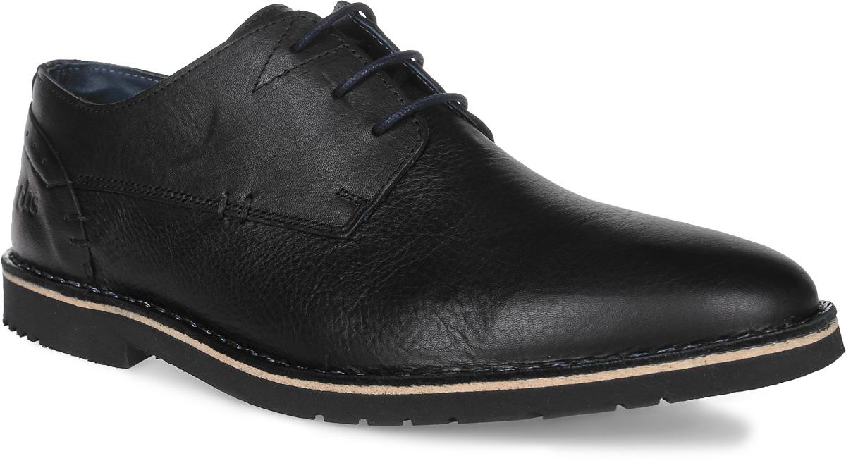 DANILLO-A8004Трендовые мужские полуботинки Danillo от TBS - модель для ценителей современной качественной обуви! Модель выполнена из натуральной кожи. Внутренняя поверхность и стелька из кожи обеспечат комфорт и уют вашим ногам. Прочная резиновая подошва дополнена небольшим квадратным каблучком. Невероятно удобная модель со шнуровкой обеспечит комфорт и легкость носки. Товары бренда смело можно отнести к продукции класса люкс, ведь они просто идеальны не только по стилю, но также и по качеству.