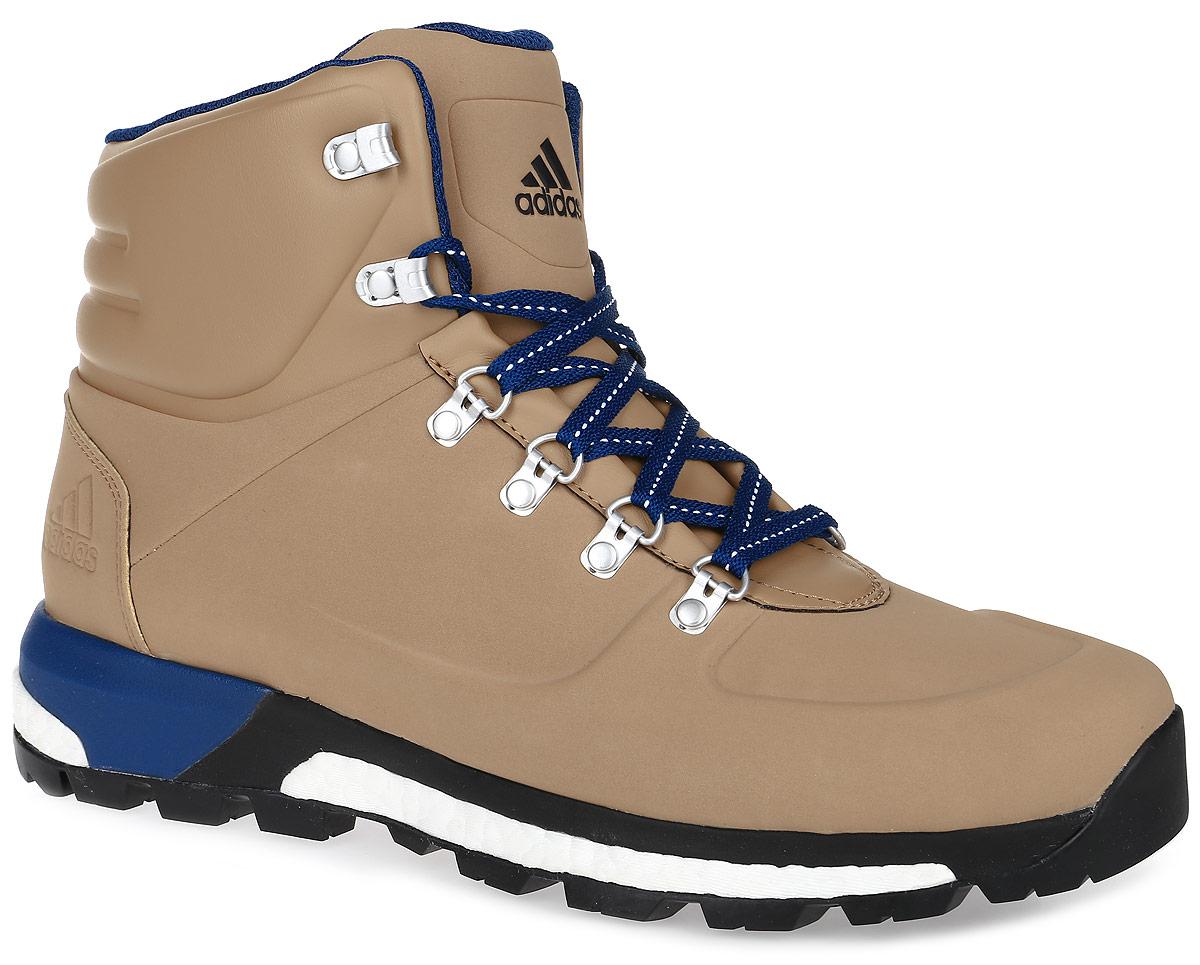 БотинкиAQ4050Модель CW Pathmaker от adidas - урбанистическая версия классических туристических ботинок. Верх выполнен из искусственной кожи. Мужская модель с промежуточной подошвой boost, возвращающей энергию каждого шага, обеспечивает максимальную амортизацию и сохраняет свои свойства даже при сильных перепадах температуры. Удобная текстильная подкладка и высокотехнологичный синтетический наполнитель Primaloft продолжают греть даже во влажном состоянии, дышащая технология Climawarm сохраняет ноги в тепле и сухости. Резиновая подошва Continental обеспечивает отличное сцепление на любой поверхности: от сухого грунта до скользких горных троп. Пяточный каркас из ЭВА и система Pro-Moderator для поддержки средней части стопы и устойчивости. Комфортное литое голенище. Классическая шнуровка, металлические полукольца и крючки для шнуровки надежно зафиксируют модель на ноге.
