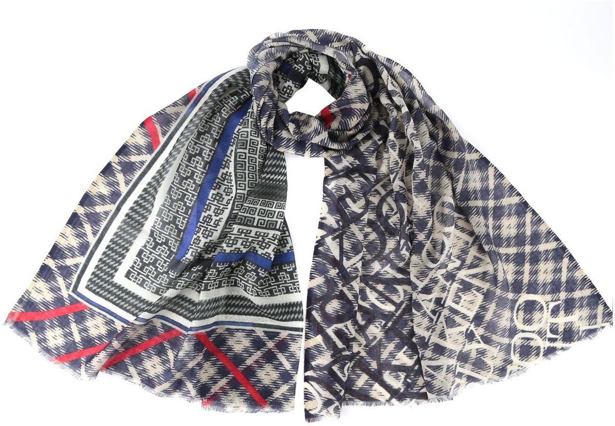 ШарфAA-6213-BlueЖенский шарф Fabretti из 100% шелка - добавит изюминку в ваш образ. Оформлен оригинальным принтом.