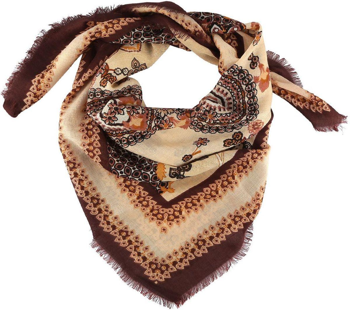 1311019-3Стильный женский платок Fabretti - добавит в ваш образ нотку романтики и шарма, а также подчеркнет безупречный вкус. Прекрасное завершение вашего образа.
