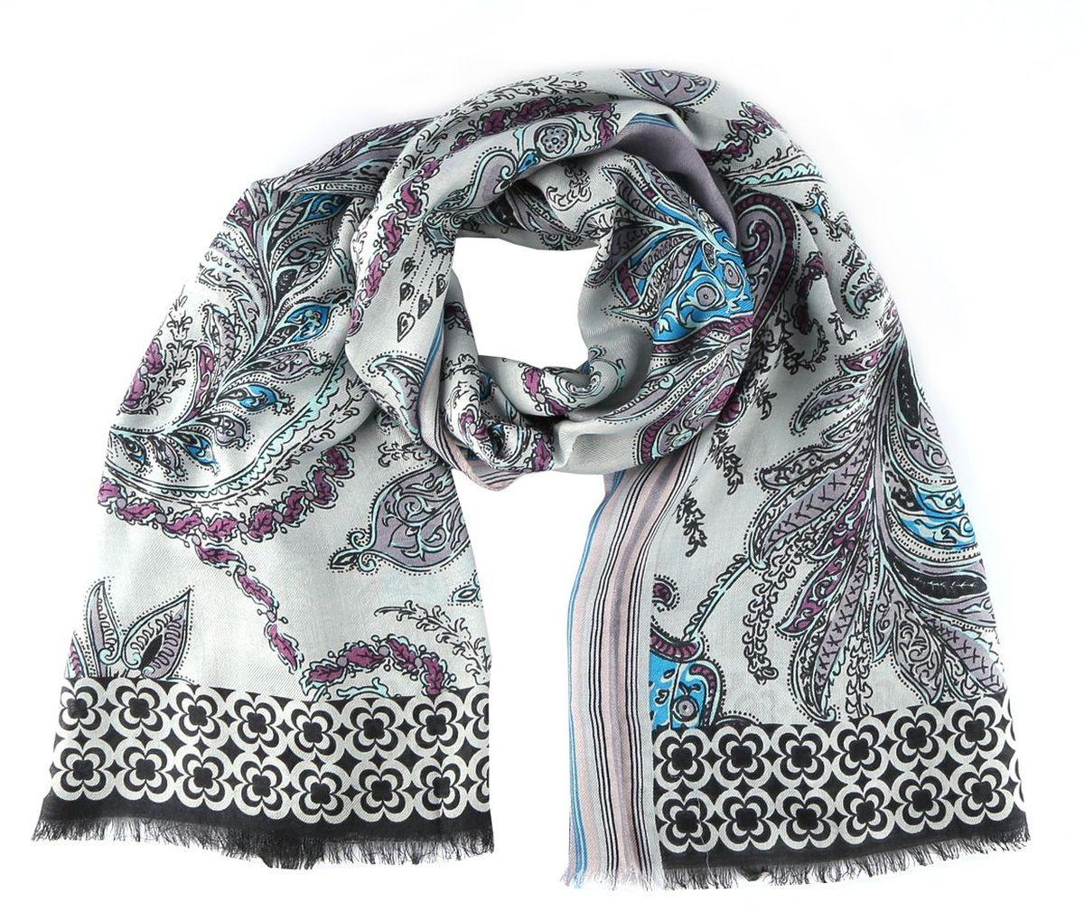 Шарф6874FЖенский шарф Leo Ventoni теплый и мягкий. С таким аксессуаром в любую погоду Вам будет уютно и тепло. Выполнен из высококачественного материала и оформлен оригинальным принтом.