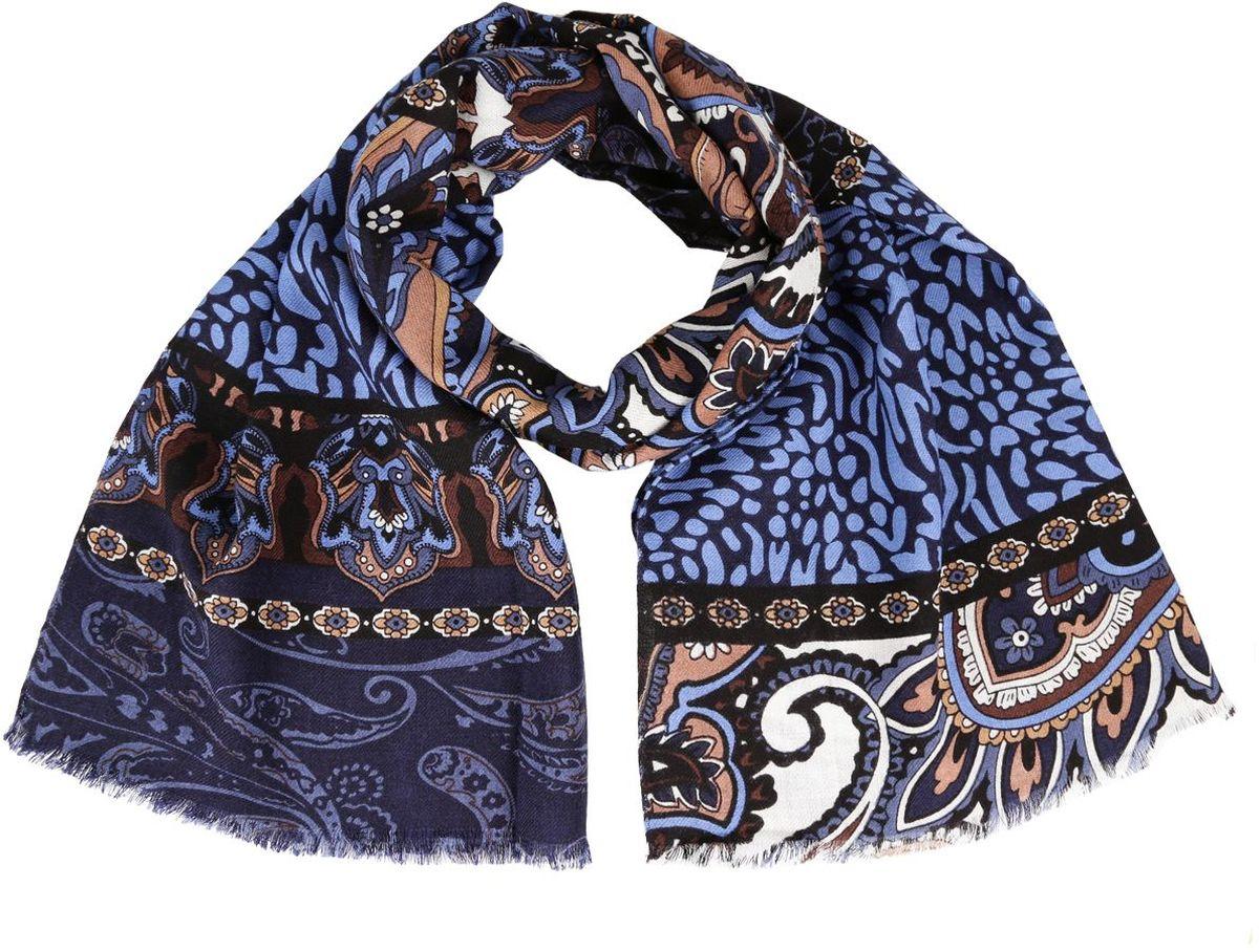 6837-4Женский шарф Fabretti теплый и мягкий. Выполнен из высококачественного материала и оформлен оригинальным принтом. С таким аксессуаром в любую погоду вам будет уютно и тепло.