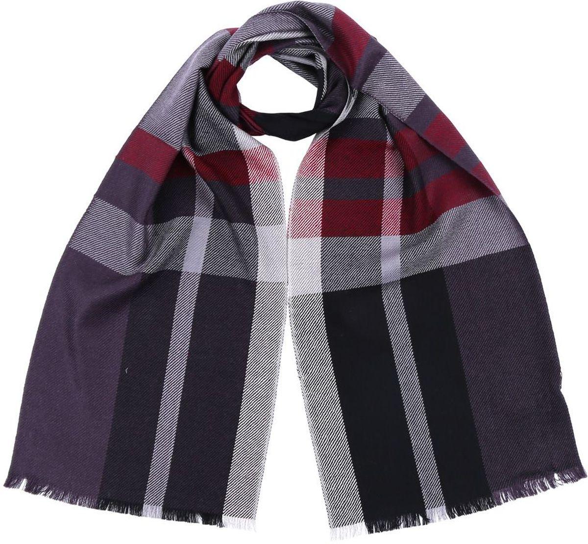2874-11Мужской шарф от итальянского бренда Fabretti выполнен из натуральной шерсти с мерсеризированной нитью, которая придает изделию неповторимую мягкость и шелковистость фактуры. Дизайнерское соединение серого, черного и яркого бордового цвета превратит ваш образ в самый стильный и элегантный в любой компании. Модная клетка и стильные реснички, которыми обработаны края изделия, подчеркнут ваш индивидуальный стиль.