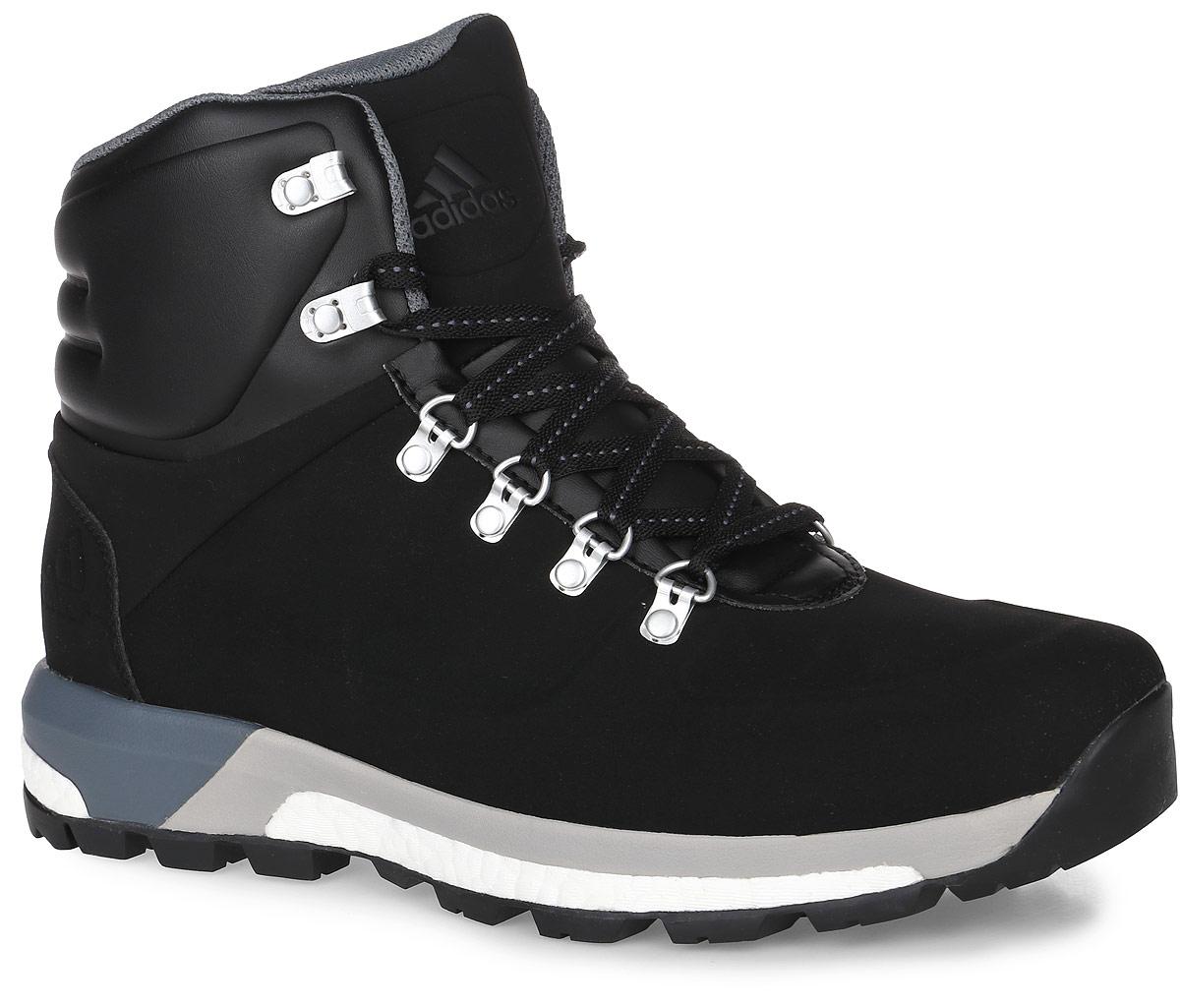 AQ4050Модель CW Pathmaker от adidas - урбанистическая версия классических туристических ботинок. Верх выполнен из искусственной кожи. Мужская модель с промежуточной подошвой boost, возвращающей энергию каждого шага, обеспечивает максимальную амортизацию и сохраняет свои свойства даже при сильных перепадах температуры. Удобная текстильная подкладка и высокотехнологичный синтетический наполнитель Primaloft продолжают греть даже во влажном состоянии, дышащая технология Climawarm сохраняет ноги в тепле и сухости. Резиновая подошва Continental обеспечивает отличное сцепление на любой поверхности: от сухого грунта до скользких горных троп. Пяточный каркас из ЭВА и система Pro-Moderator для поддержки средней части стопы и устойчивости. Комфортное литое голенище. Классическая шнуровка, металлические полукольца и крючки для шнуровки надежно зафиксируют модель на ноге.