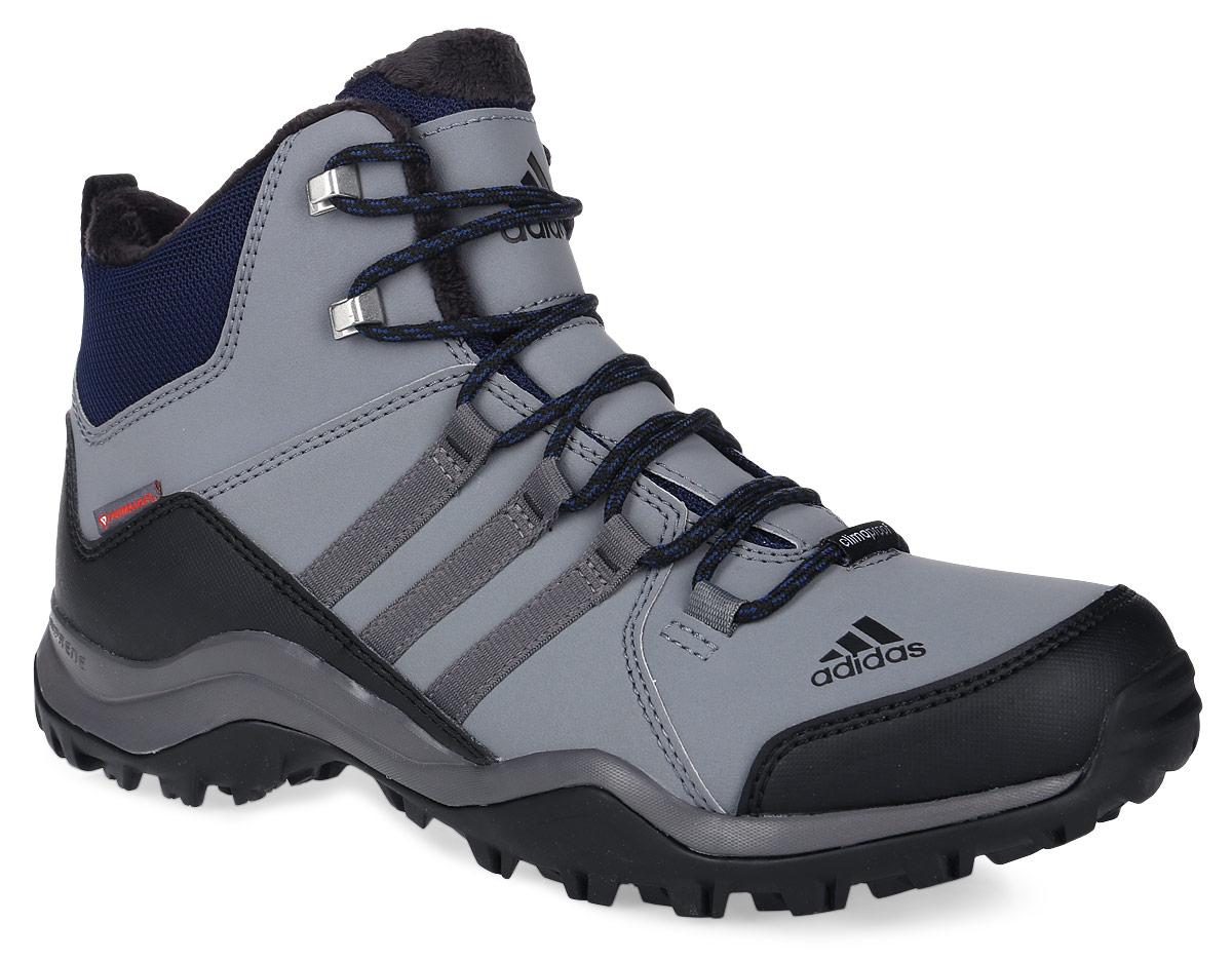 БотинкиAQ4111Мужские туристические ботинки CW Winterhiker II C от adidas предназначены для пеших походов в суровых зимних условиях. Прочный верх из искусственной кожи с текстильным голенищем, мягкая подкладка из искусственного меха и литая стелька обеспечивают комфорт и удобную посадку. Водонепроницаемая мембрана Climaproof защищает ноги от влаги, технология Climawarm сохраняет ноги в тепле и сухости. Подошва из резины Continental обеспечивает непревзойденное сцепление даже с влажной поверхностью. Высокотехнологичный синтетический наполнитель Primaloft продолжает греть даже во влажном состоянии, вставка Adiprene в пяточной части превосходно амортизирует при ударных нагрузках. Классическая шнуровка надежно зафиксирует модель на ноге. По бокам модель оформлена фирменными тремя полосками.