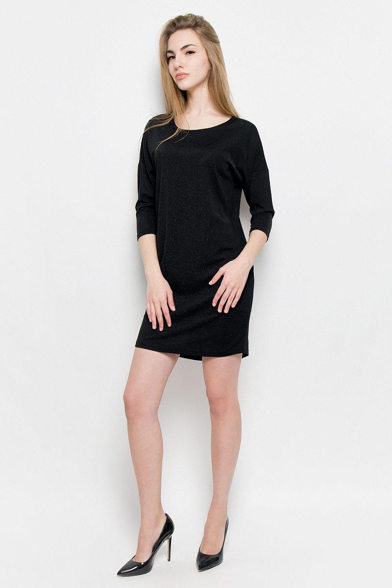 10156977_893Платье Broadway Vissia выполнено из полиамида с добавлением люрекса и эластана. Платье-мини с круглым вырезом горловины и рукавами длинной 3/4.