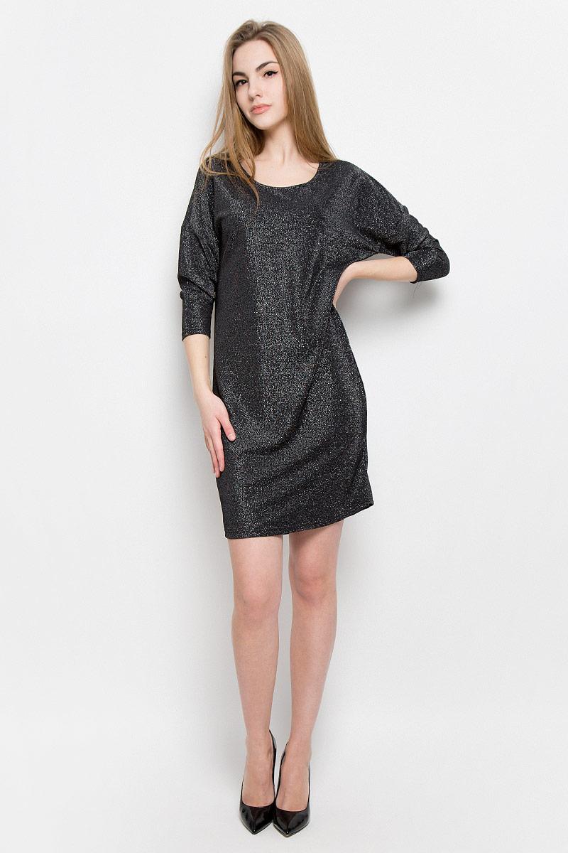 Платье10156977_893Платье Broadway Vissia выполнено из полиамида с добавлением люрекса и эластана. Платье-мини с круглым вырезом горловины и рукавами длинной 3/4.