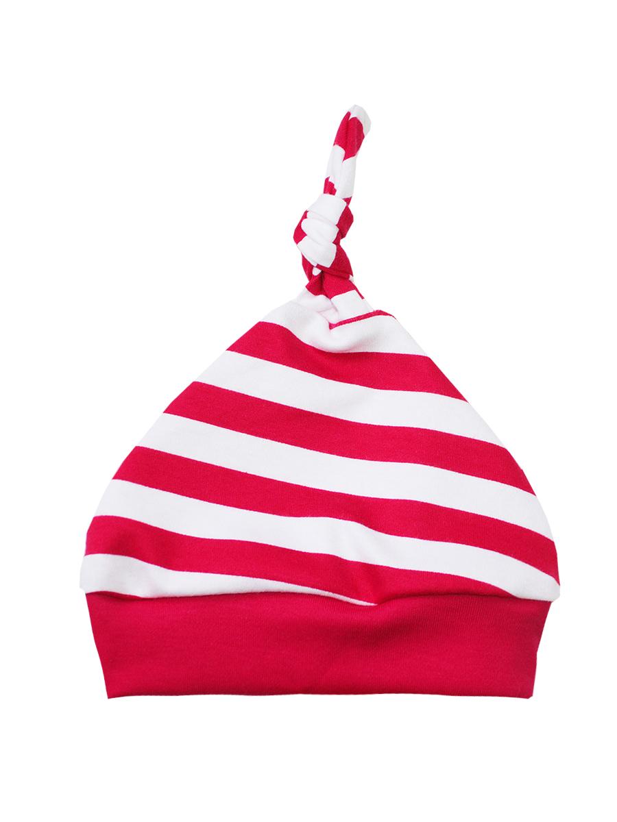 Шапочка8575Комфортная шапочка КотМарКот Новый год выполнена из натурального хлопка. На макушке шапочка дополнена очаровательным узелком. Модель оформлена принтом в полоску. Уважаемые клиенты! Размер, доступный для заказа, является обхватом головы.